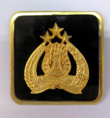 Indonesia National Police POLRI license plate automobile plate medallion