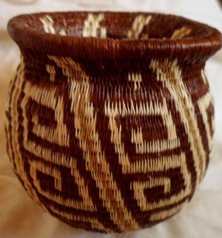 Wounaan Embera Woven Classic Design Basket-Panama 20121705mm