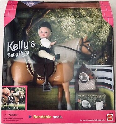 1998 Barbie Riding Club Kelly And Baby Pony Gift Set Equestrian Horse Mattel