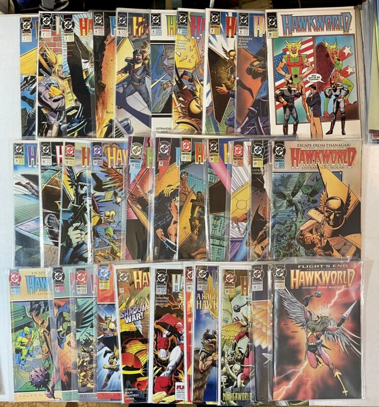 DC Hawkworld (1990) #1-32, Annuals #1-3, Books #1-3 VF