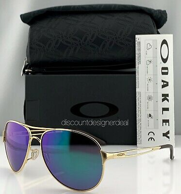 Oakley Caveat Aviator Sunglasses OO4054-15 Gold Metal Frame Jade Iridium (Green Oakley Sunglasses)