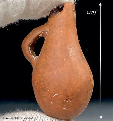 Ancient Pre Columbian Ceramic Pottery Moche Indian Vase Vessel Miniature Figure