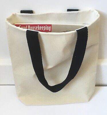 5 x Plain Cotton/canvas Box Bottom Tote Bag Xmas/craft/hen Party/sewing/book ()