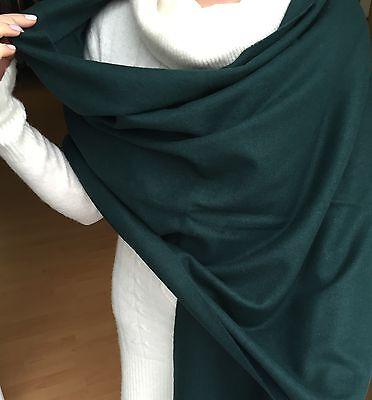 Wollschal Schal Winterschal Olivgrün 100% Wolle 50x200 cm
