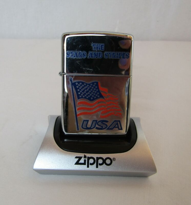 Zippo The Stars and Stripes American Flag Discontinued New Z410
