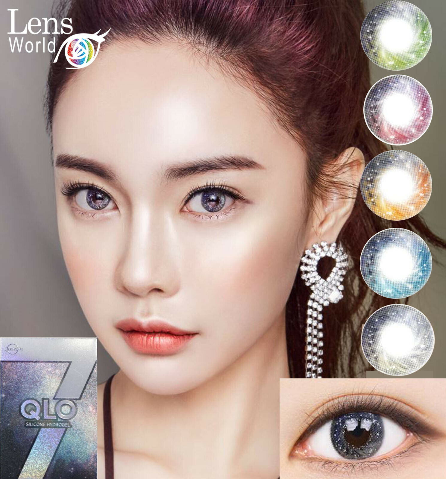 Galaxy Star Green Blue Brown Color- Farbige Kontaktlinsen-Korean Contact Lenses