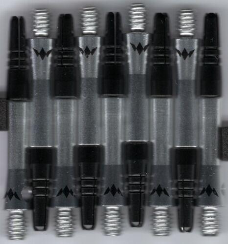 Short Silver ALIMIX Spinning Aluminum Dart Shafts: 1 set of 3