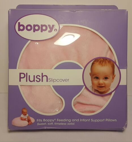 BOPPY PINK PLUSH SLIPCOVER FOR FEEDING AND INFANT SUPPORT PILLOWS