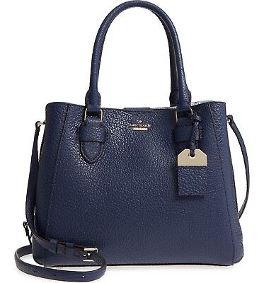(kate spade CARTER STREET aliana BLUE RIDGE Leather Satchel HANDBAG Bag purse)