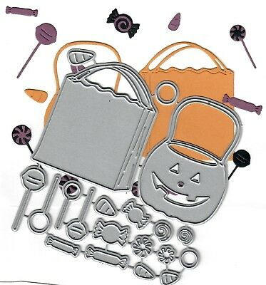 tal cutting craft die Halloween Candy & pumpkin Bucket / Bag (Halloween Crafts Candy Bag)