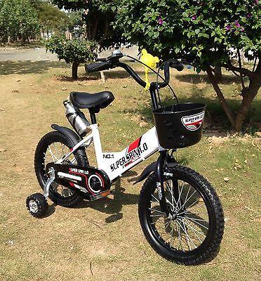 "New 16"" Children Boys Kids Bike Bicycle With Training Wheels"
