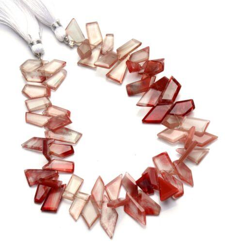 """Natural Gem Andesine Labradorite Faceted Slice Shape Beads 8"""" Strand 102Cts."""