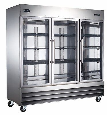 Saba Commercial Refrigerator Beverage Cooler Display Case 3 Glass Doors