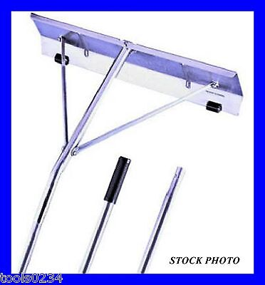 """Garelick 89421 21 foot Aluminum Roof Snow Removal Rake - 24"""" x 7"""" w Rollers USA"""