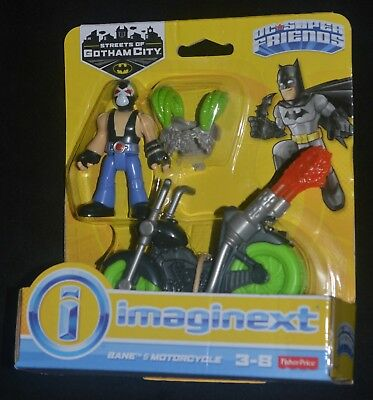 BANE & MOTORCYCLE Imaginext DC Streets of Gotham City Action Figure HTF MIP