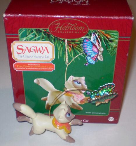 Carlton Sagwa The Chinese Siamese Cat Christmas Ornament in Box 2003 PBS Kids