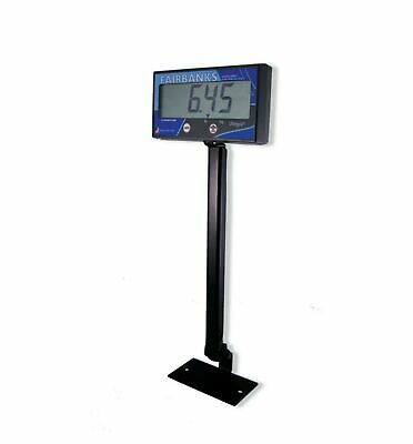 "Fairbanks Scales 20301 Ultegra 1520 Remote Display Pillar, 18"" Height, Black"