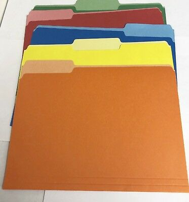 Set Of 5 Pendaflex Two-tone Color File Folders Letter Size 13 Cut 5 Colors