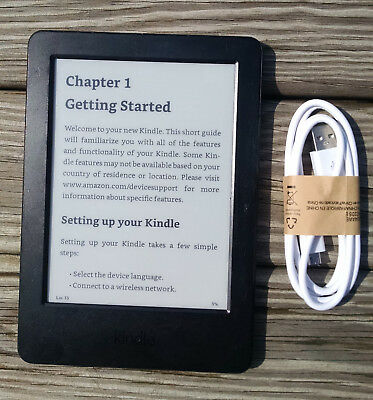 Amazon Kindle Basic (7th Generation) 4GB, Wi-Fi, 6in, eReader - W/Cord