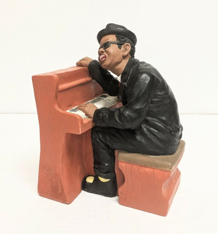 Vintage African American Jazz Band Art Deco Collection  Statue Sculpture Heavy