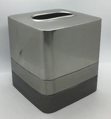 Chrom Tissue Box Cover (Chrome Metal Tissue Box Cover Bed Bath & Beyond Triune Metal Boutique India #19E)