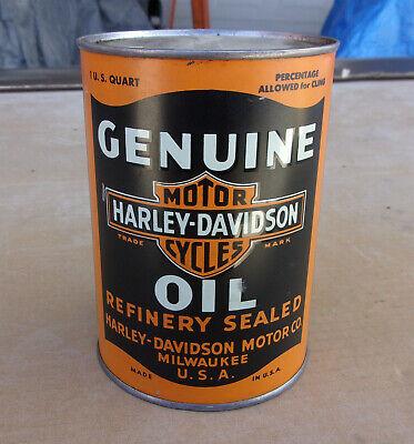 Antique Harley Davidson oil can quart VERY nice old original solder seam qt