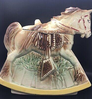McCoy Rocking Horse Cookie Jar Mid-Century c.1950 MadeUSA (Original w/ marking)
