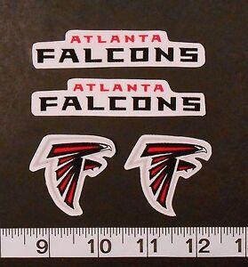 NFL Atlanta Falcons Iron On Fabric Applique Patch Logo DIY Craft No Sew 4 pc