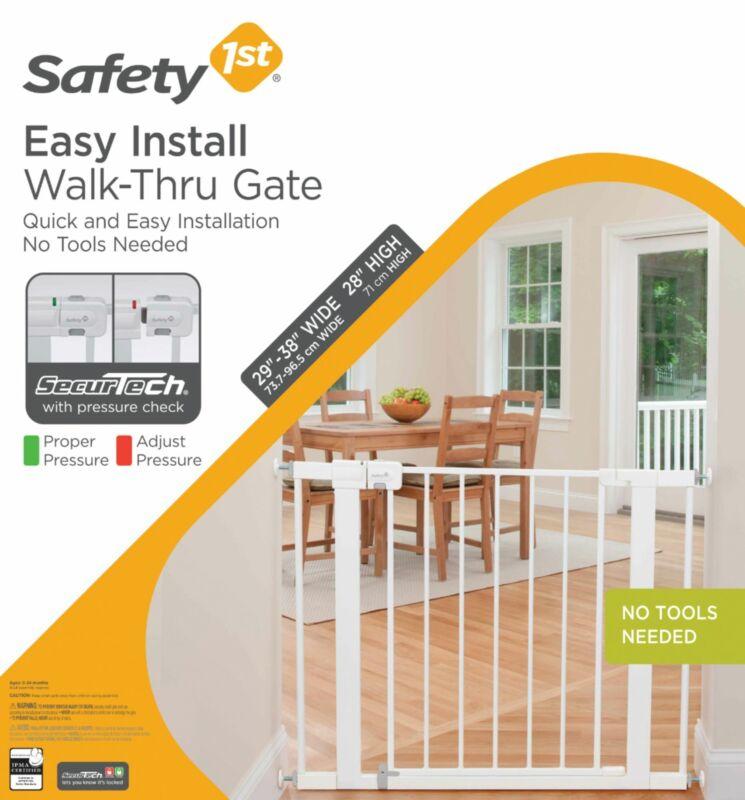 Safety 1st - Easy Install Walk-Through Gate - White