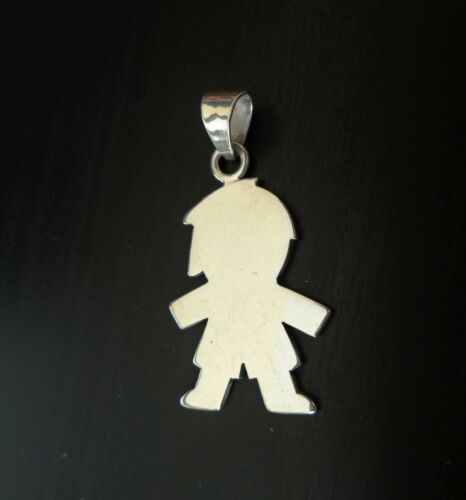 Sterling 925 Stamped, made in Mexico, Small Child Shape Pendant.