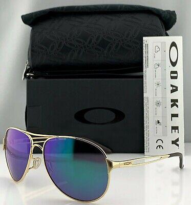Oakley Caveat Aviator Sunglasses OO4054-15 Gold Metal Frame Jade Iridium (Aviator Oakley)