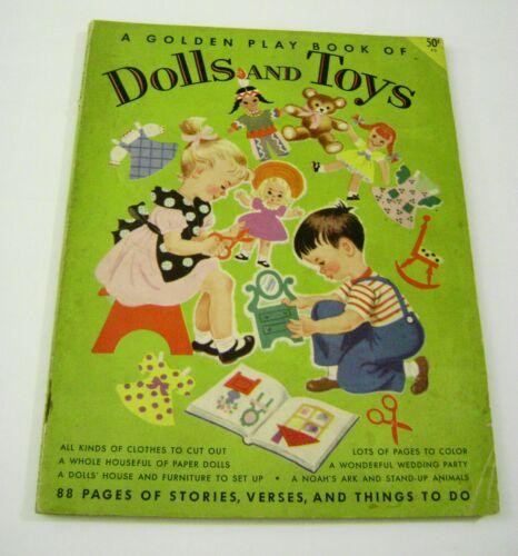 VTG PAPER DOLLS 1953 GOLDEN PLAY BOOK DOLLS TOYS HILDA MILOCHE 88 PAGES UNCUT!!!