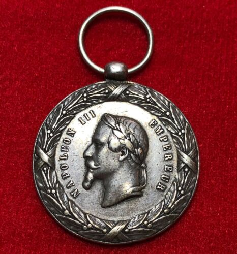 Napoleon III Expedition of Mexico Medal1862-1863 Rare type! Silver