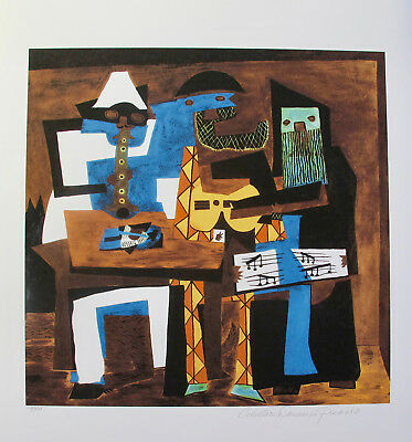 Pablo Picasso THREE MUSICIANS Estate Signed Limited Edition Art Giclee Size