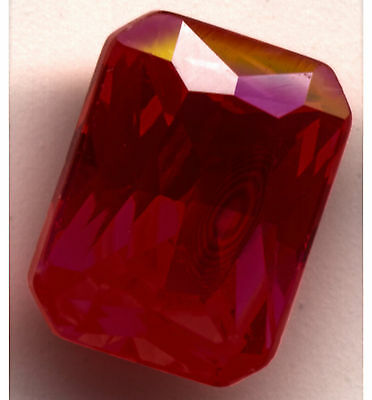 Ruby octagonal cut 6x8 Lab Created  Loose Gemstones