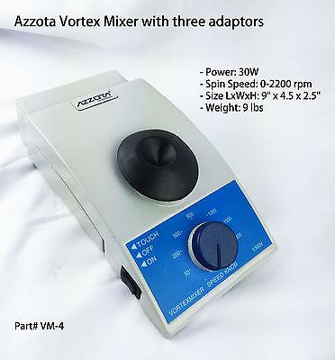 Azzota Vm-4 Vortex Mixer With Three Adaptors Speed 0-2200rpm.
