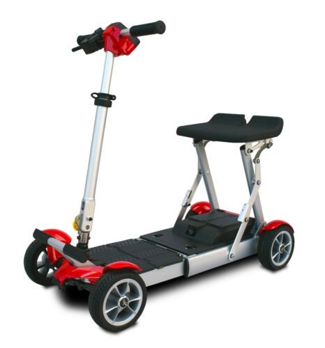 Red Ev Rider Gypsy Folding Scooter, Only 37 Lbs, 250 Lb Cap, 7-10 Miles,warranty