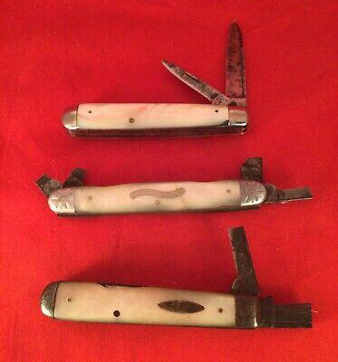 Vintage pocket knifes Marshall Wells, waterville, parts/restoration antique old.