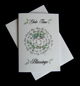 YULE CARD ~Wiccan Rede/Green Man/Pagan/Xmas/Witch~
