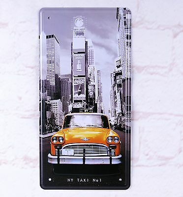- Retro Metal Tin Sign NY Taxi No.1 Artistic Wall Plaque Poster Car License Plate