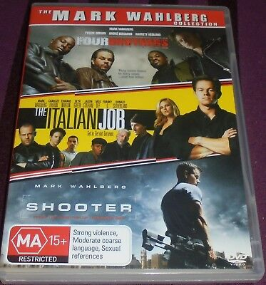 MARK WAHLBERG COLLECTION 3 DVD'S (FOUR BROTHERS,ITALIAN JOB,SHOOTER) REGION 4