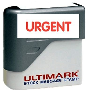 Urgent Text On Ultimark Pre-inked Message Stamp With Red Ink