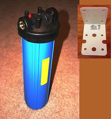 "Big Blue 20"" Whole House Water Filter System (3/4"" Port) with Mounting Bracket"