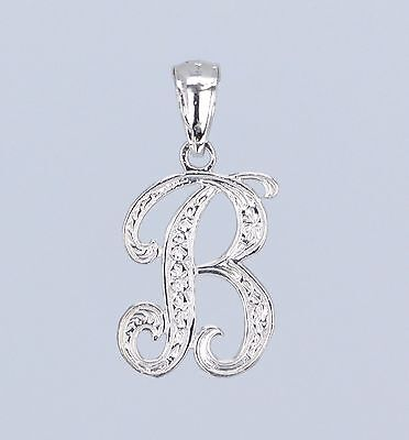 14k Yellow or White Gold Initial Letter B Alphabet A-Z Charm Pendant