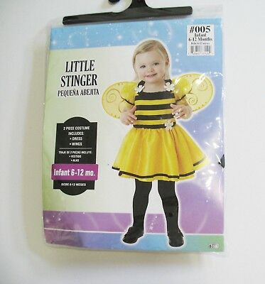 Little Stinger Bumble Bee Halloween Costume Infant Girls Sz 0-6 months - - Little Bumble Bee Infant Toddler Halloween Costume