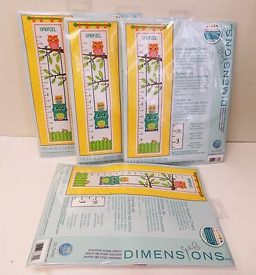 NEW, Dimensions Needlecrafts Counted Cross Stitch, Owl Growt