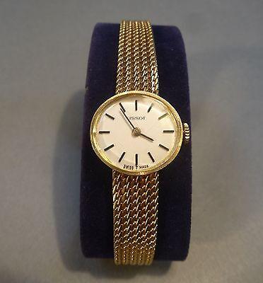 Original Tissot Uhr mechanisch Damenuhr Armbanduhr 585 Gold Schweiz Swiss made
