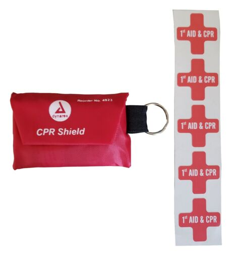 CPR Shield and Hard Hat Sticker Kit, 5 Pack