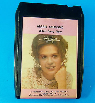 Marie Osmond  Who's Sorry Now  8 TRACK TAPE M8H-4979  Vintage 1975 MGM