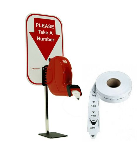 Alzatex Take-a-Number System Ticket Dispenser includes roll of two-digit tickets